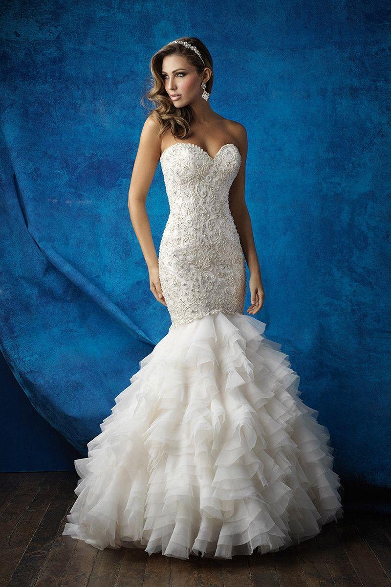 9355 Mermaid Wedding Dress By Allure Bridals Weddingwire Com Allure Bridal Gowns Allure Wedding Dresses Allure Bridal [ 1200 x 800 Pixel ]