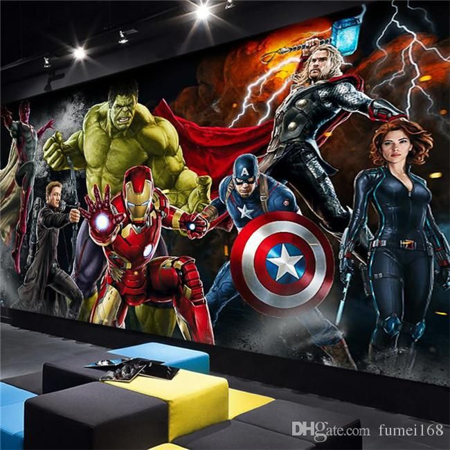 Best Avengers Photo Wallpaper Custom 3D Wallpaper For Walls 400 x 300