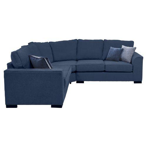 Hinton Corner Sofa Metro Lane Upholstery Navy Corner Sofa Modular Corner Sofa Luxury Fabric Sofas