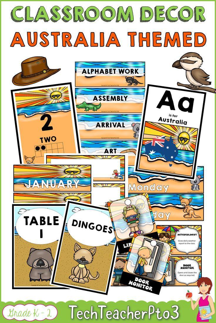 Australia Classroom Decor Theme Bundle Are you exploring Australia in your class this year? Perhaps