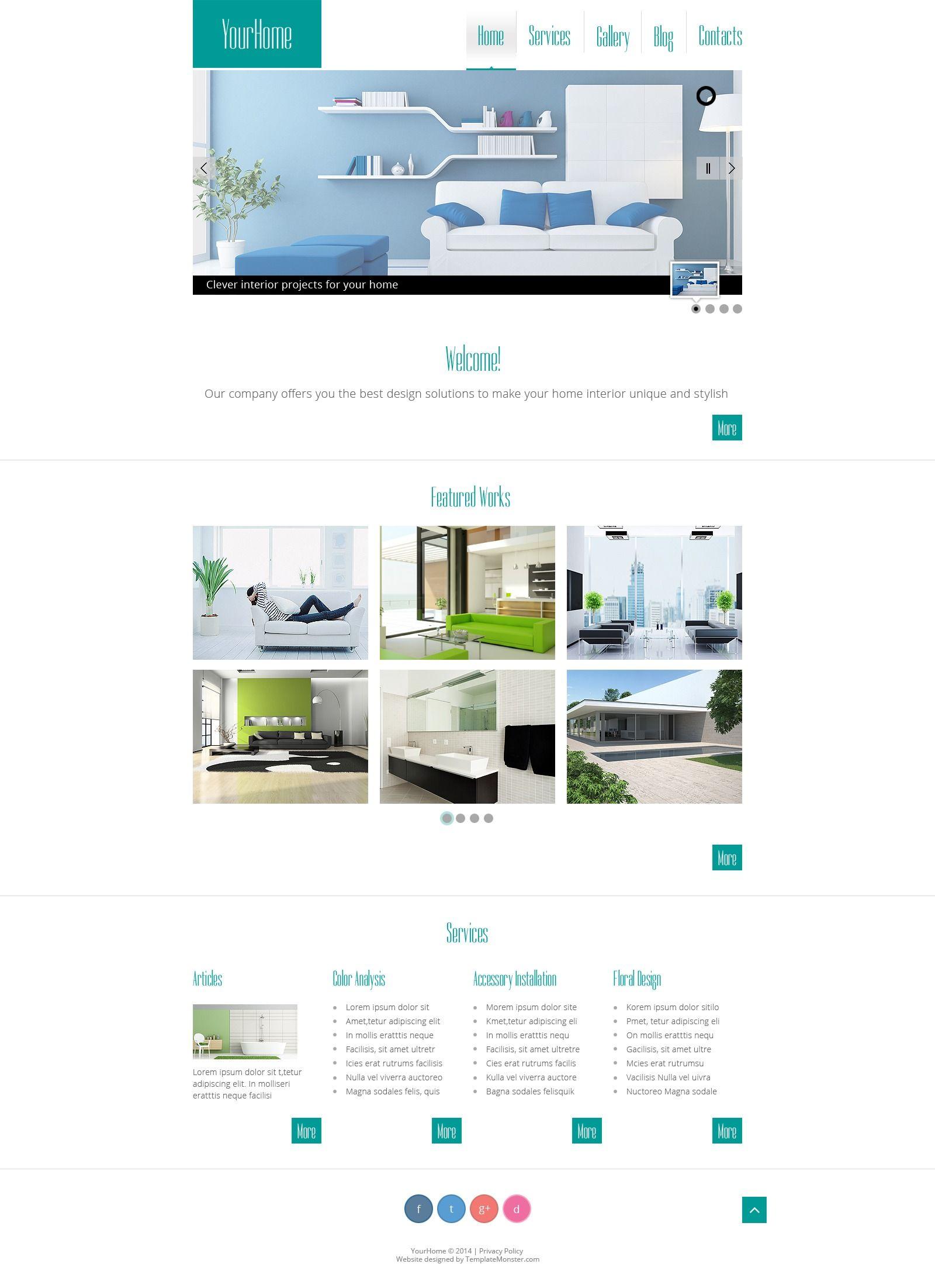 Interior Design Free HTML Template 554