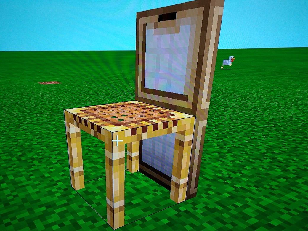 how to make a chair in minecraft  Used scaffolding, Minecraft