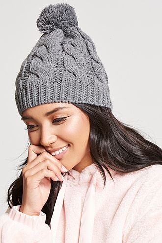 b036e286763 Pom Pom Cable Knit Beanie. Women s Hats ...