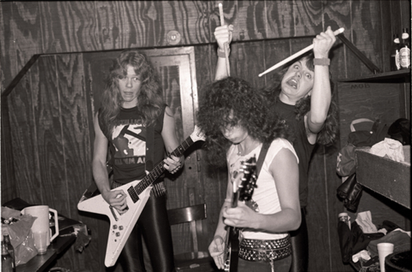 James Hetfield Kirk Hammett Lars Ulrich Metallica