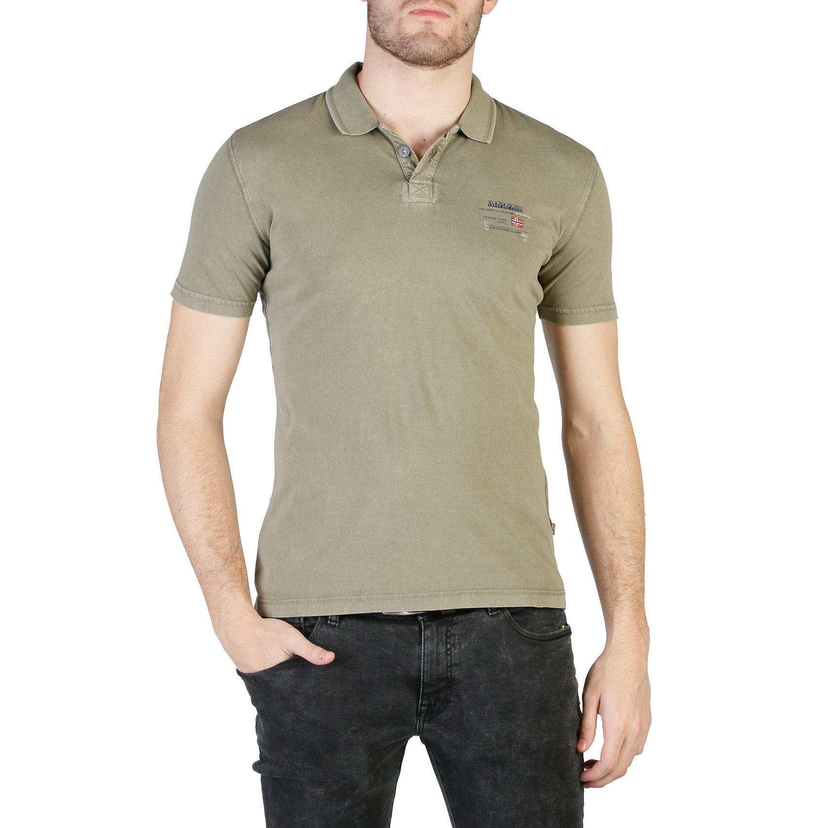 Men's Green Sleeve In N0yhqk Napapijri Polo Short 2019 Shirt wkPZ80NnOX