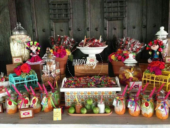 Candy bar boda mexicana pinterest bar mexicans and for Mesa de dulces para boda