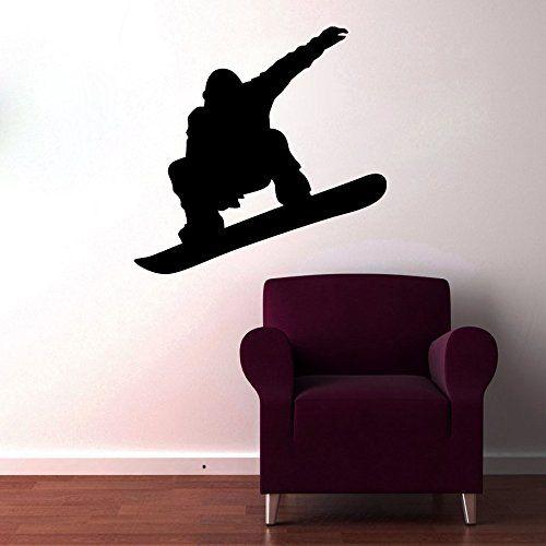 72c2c8d9a3365 Wall Decals Snowboard Decal Vinyl Sticker Boy Nursery Bedroom Home ...