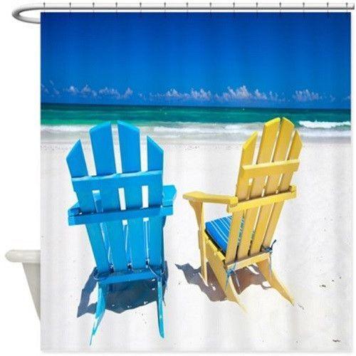 Beach Chairs Shower Curtain 102
