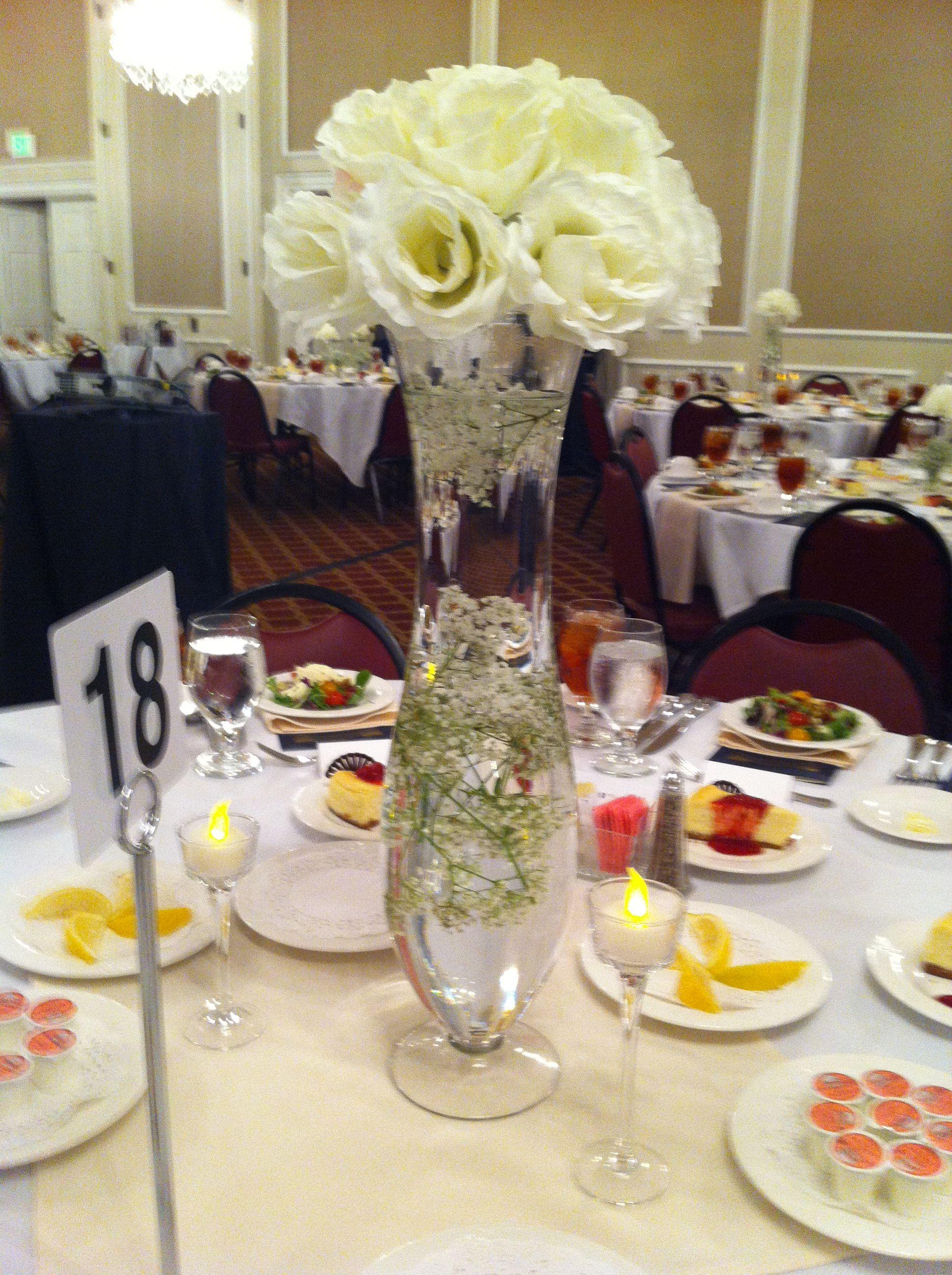 College Legacy Banquet Table Centerpiece Event Decor Table