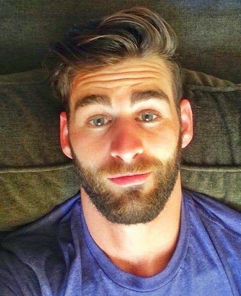 Beard selfie with guy California man