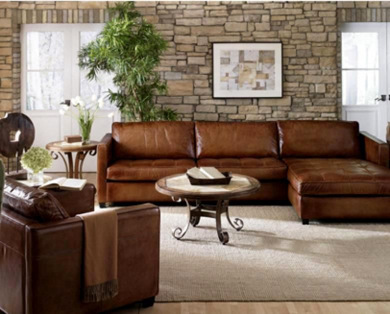 diangelo leather sectional colliers furniture Sofas Pinterest - Wohnzimmer Braunes Sofa