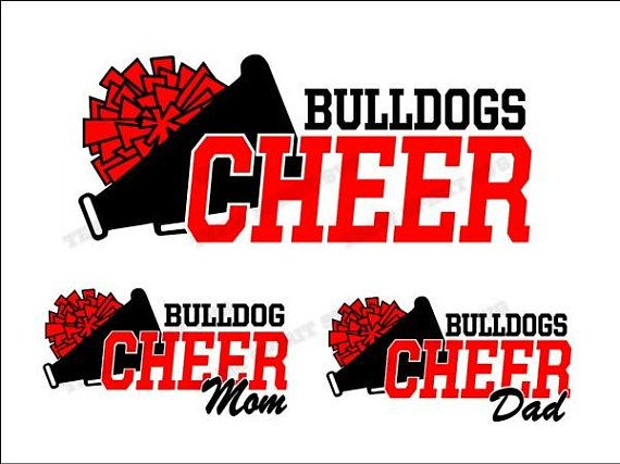 Bulldogs Cheer Mom Dad Download Files Svg Dxf Eps