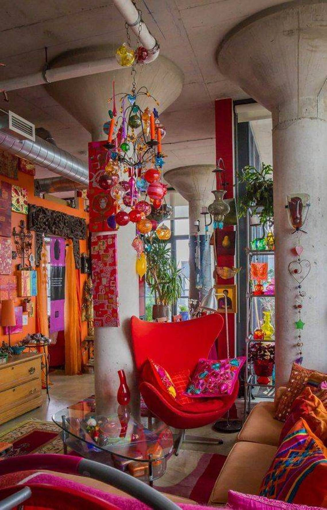 Bohemian wall decor ideas how to decorate boho wall for Gypsy designs interior decorating