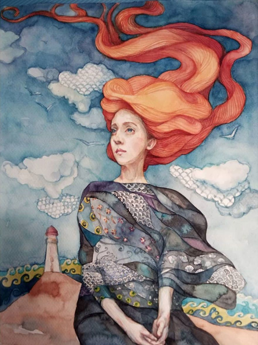 I Escape Into A World Of Fantasy And Dreams Through My Watercolor