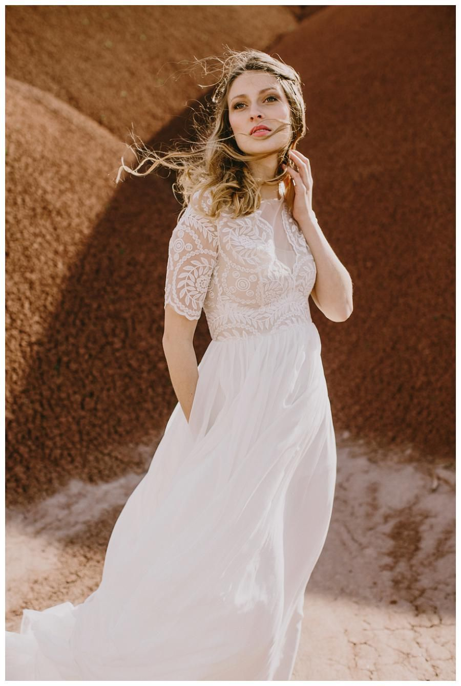 Wedding dress from the Elizabeth Dye Painted Desert Collection ...