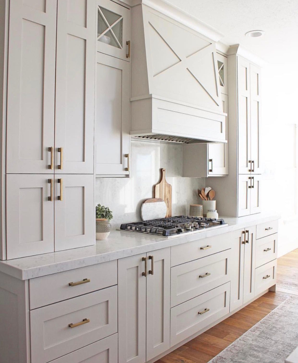 Sherwin Williams Repose Gray Diy Kitchen Renovation Kitchen Renovation New Kitchen Cabinets