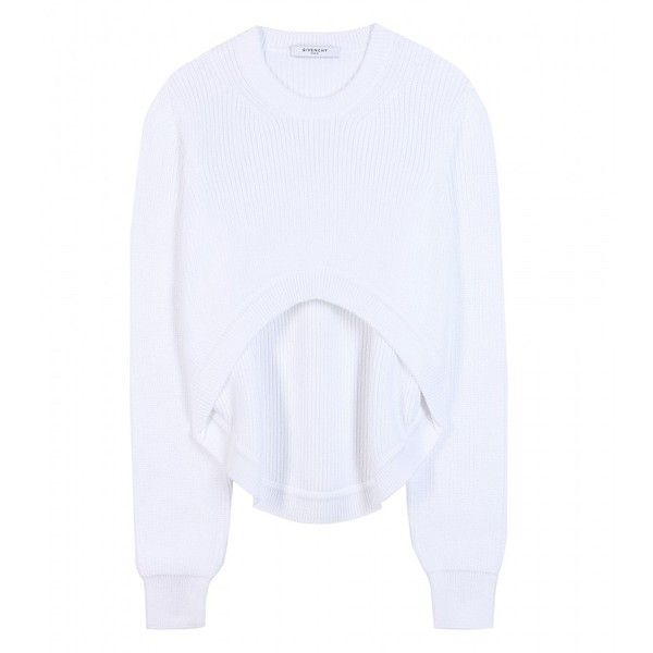 Givenchy Cropped Cotton Sweater ($990) ❤ liked on Polyvore ...