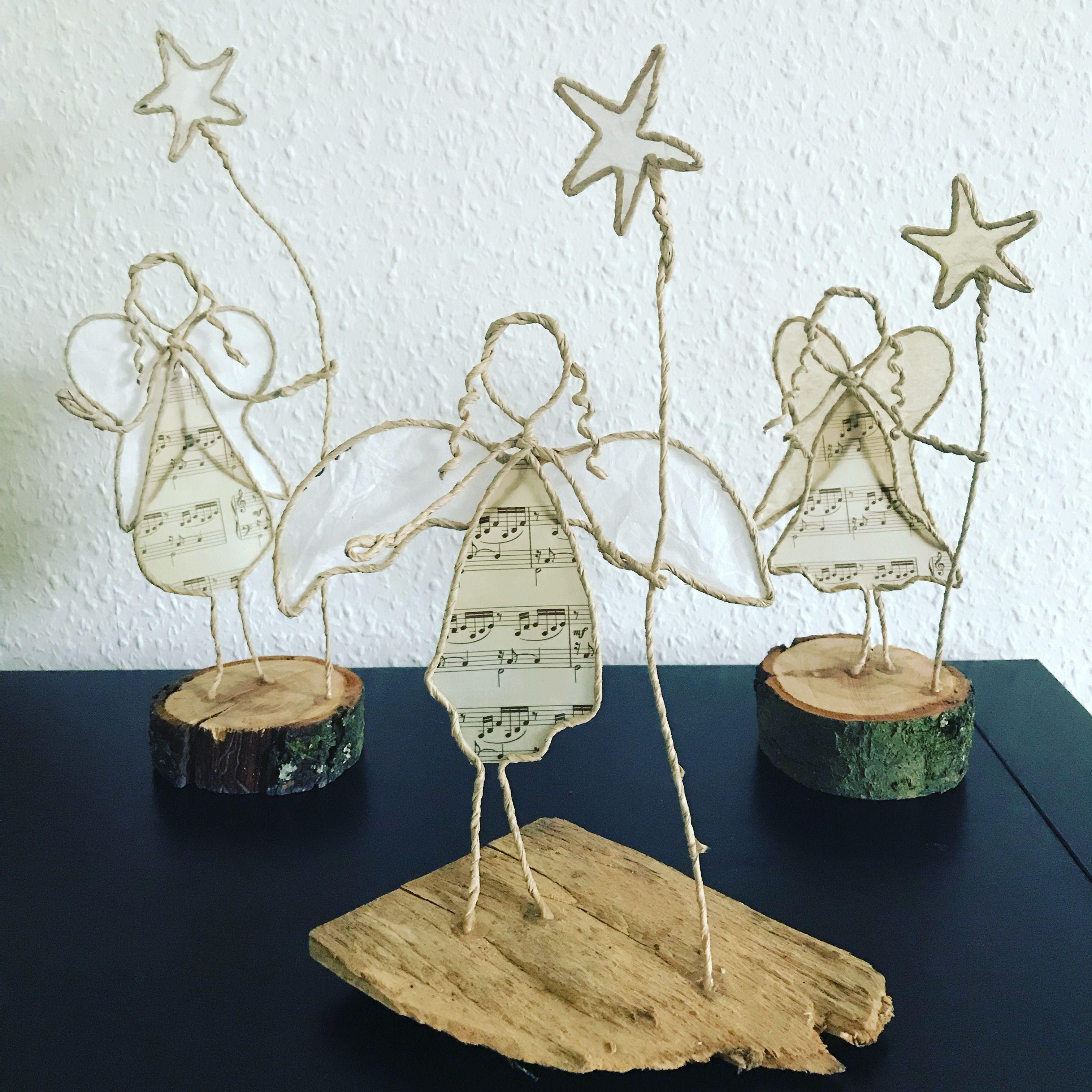 Papierdrahtfiguren Engel Basteln Weihnachten Draht Papierskulpturen Basteln Mit Papierdraht