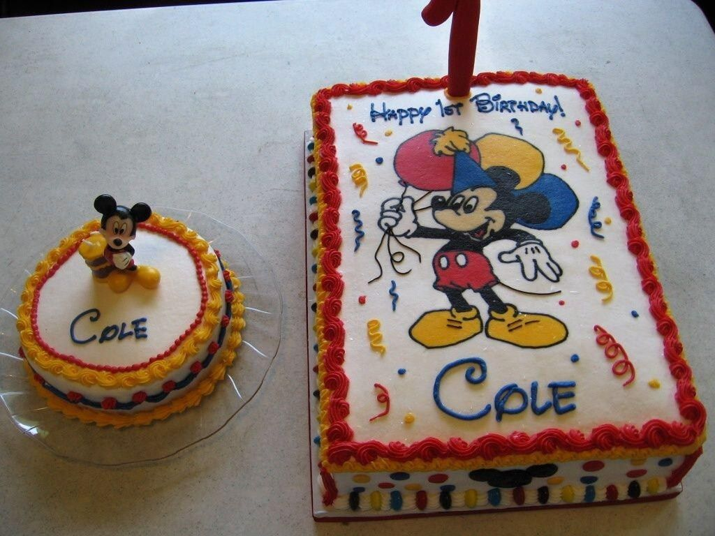 Awe Inspiring 32 Great Picture Of Mickey Mouse 1St Birthday Cake With Images Personalised Birthday Cards Akebfashionlily Jamesorg