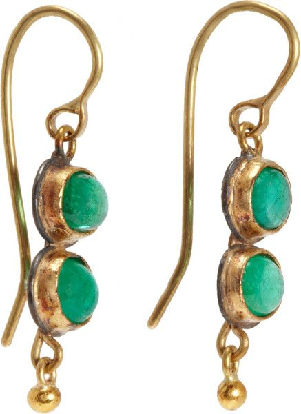 bd8bb085c judy geib | Judy Geib Colombian Emerald Cabochon Earrings in Green (yellow)  - Lyst