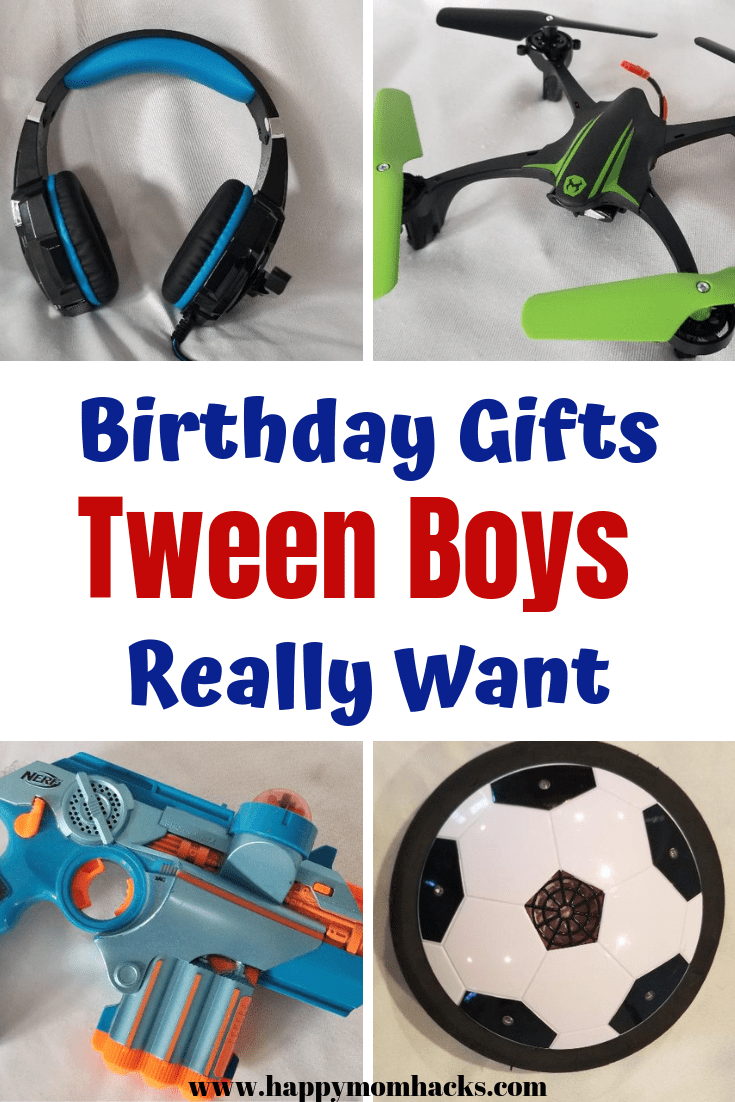 20 Cool Gifts Ideas for Boys Age 10, 11 & 12 Tween boy