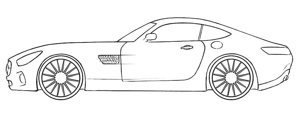 Gt Car Coloring Pages Background