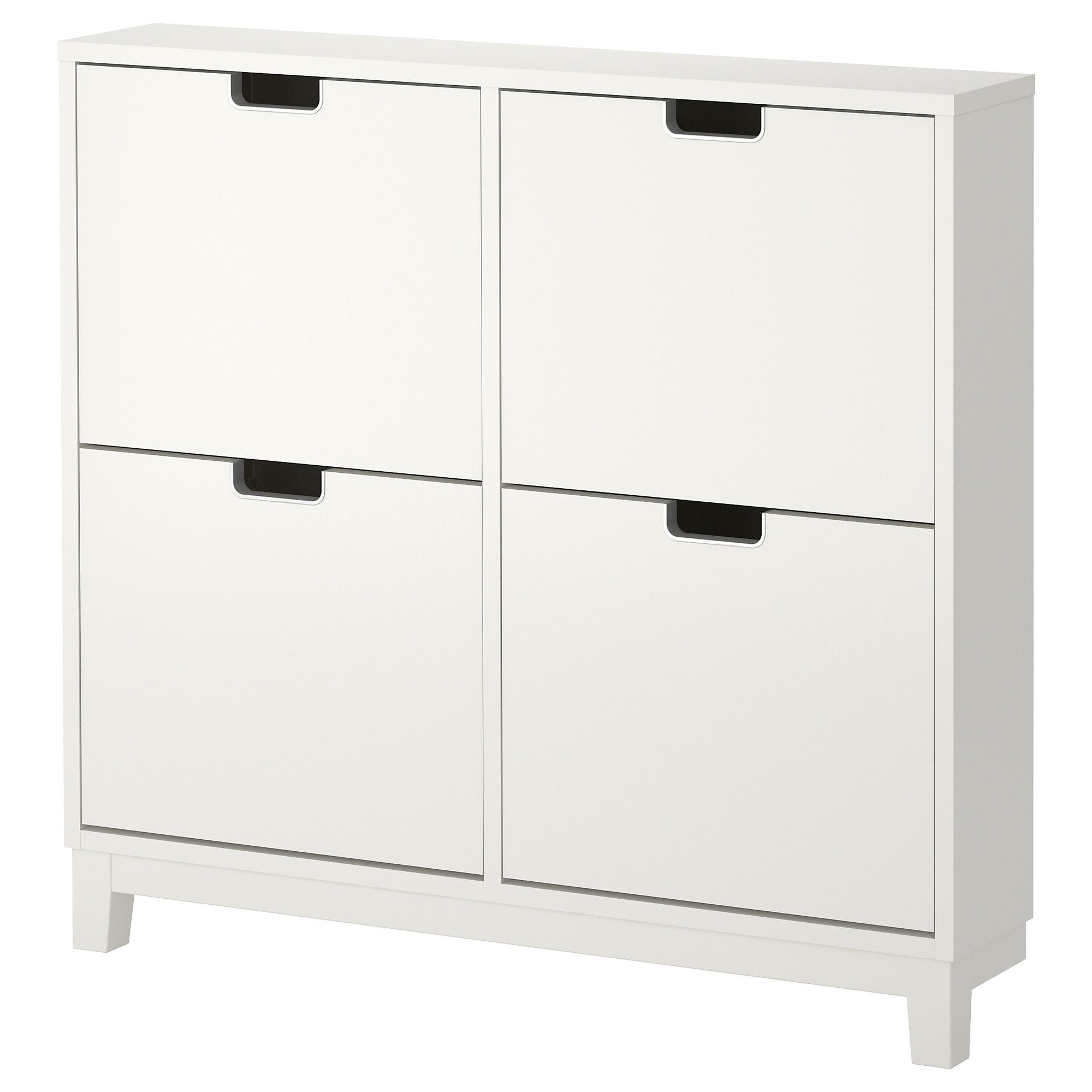 Stall Shoe Cabinet With 4 Compartments White 96x90 Cm Ikea