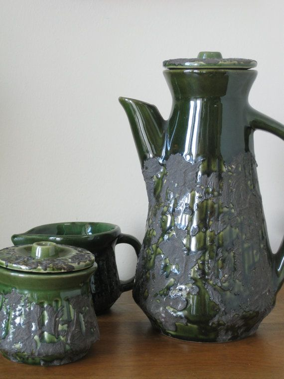 Vintage1960's Mid Century Modern Pottery Tea/Coffee by gotmileage, $40.00