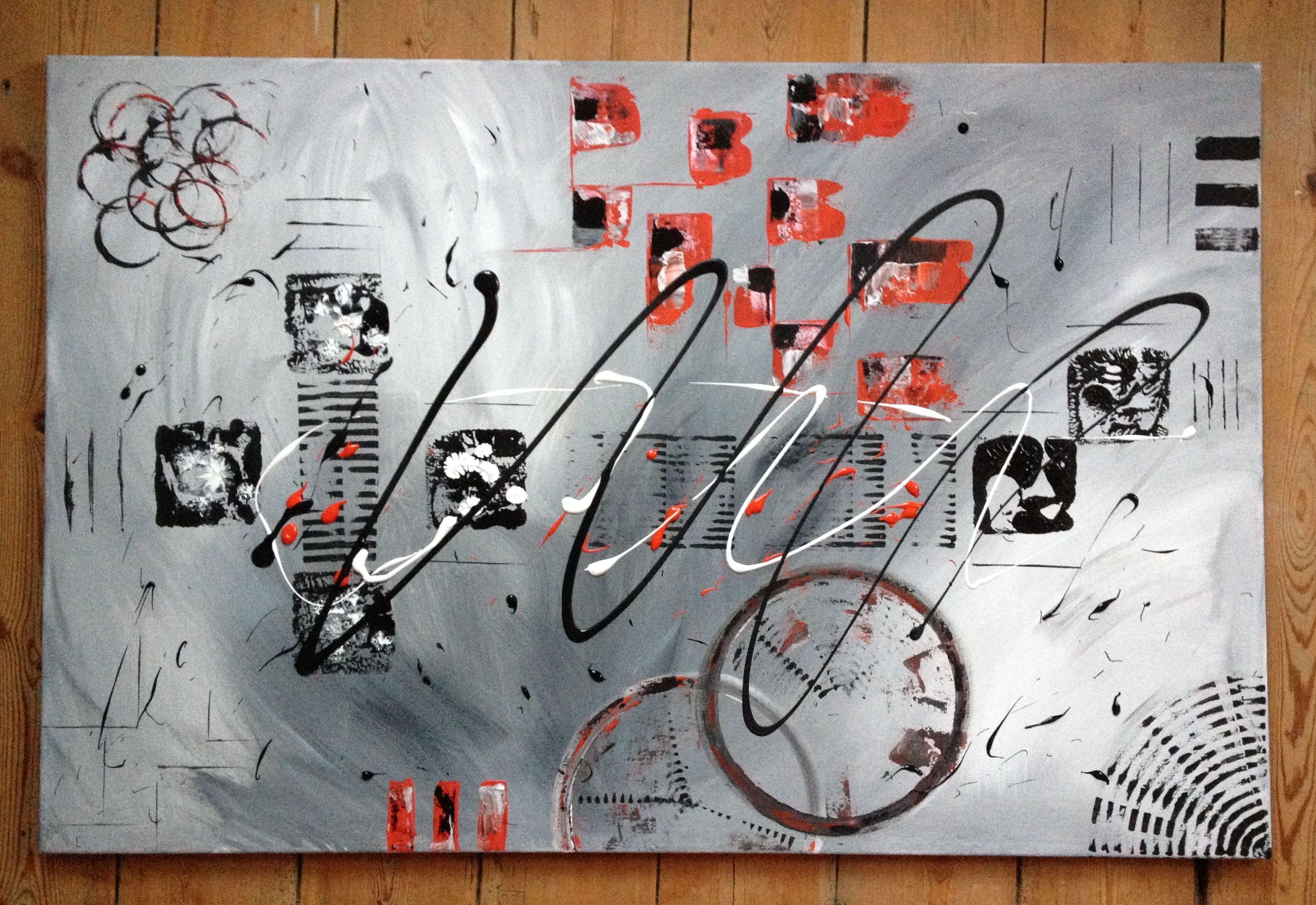 Toile Acrylique Abstraite 75x115 Tableau Abstrait Pinterest