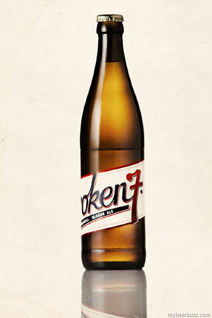 Briseset Beer Co Broken 7 Bottle Label Design Beer Design Bottle