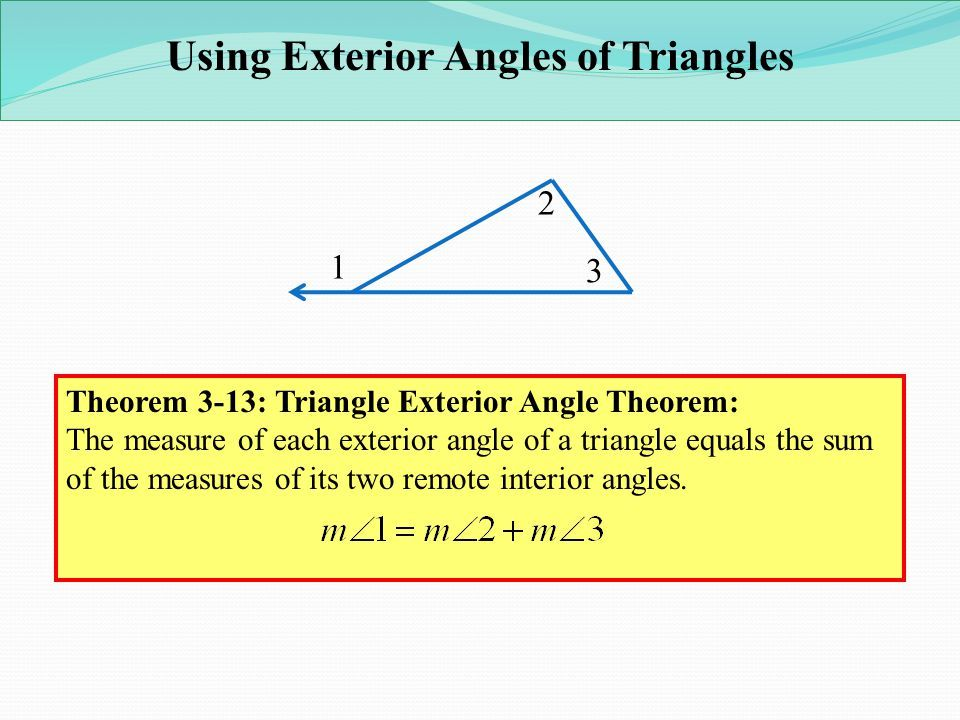 Lesson 3 3 4 Parallel Lines And The Triangle Angle Sum Dengan Gambar Remote Angles Interior