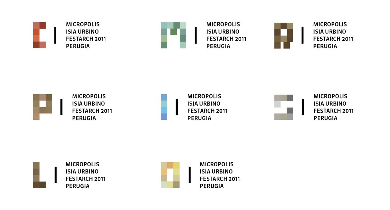 Simone Scimmi – Identity of the exhibition Micropolis organized during the international festival of architecture Festarch 2011
