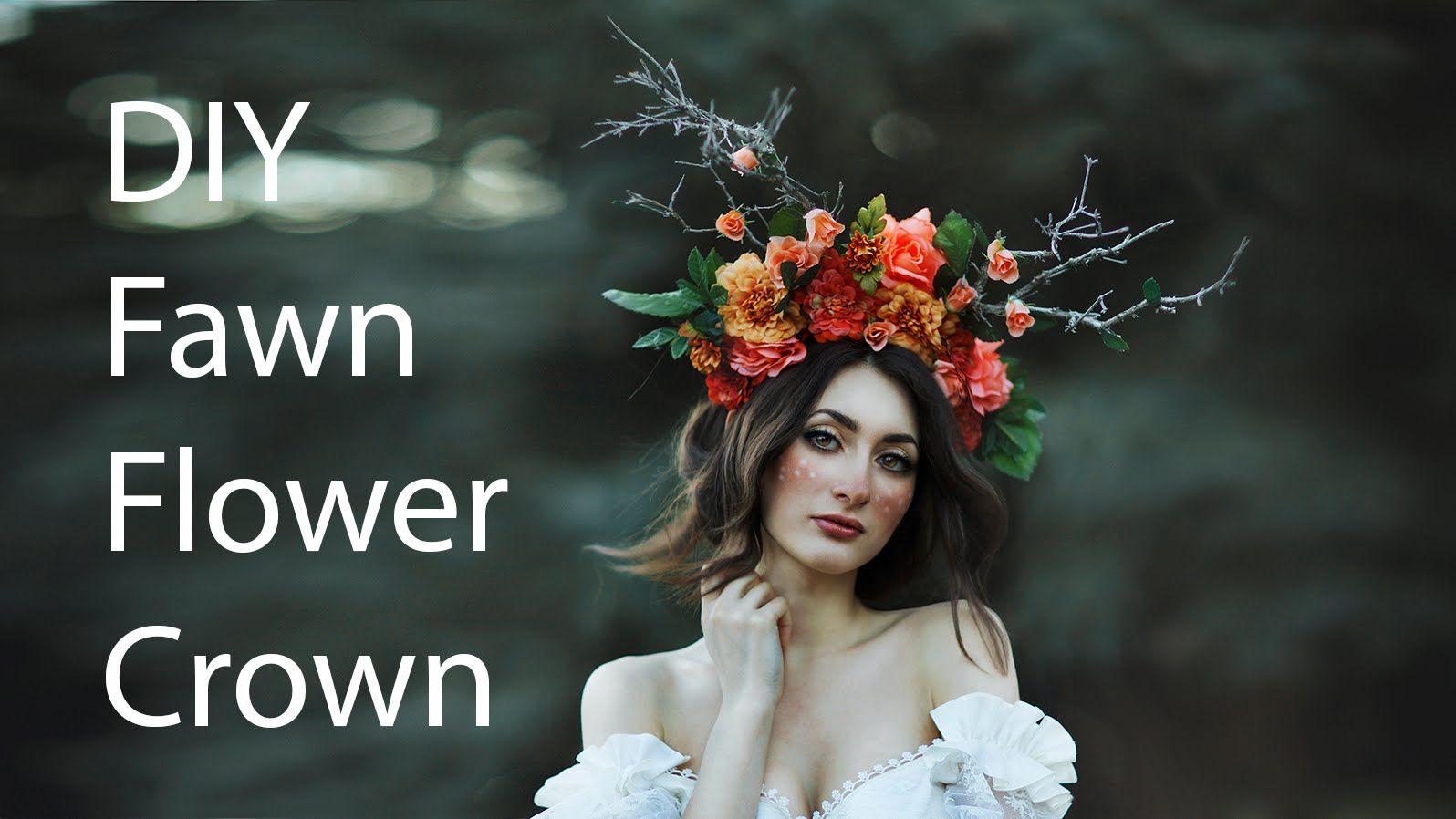 DIY flower crown. (just without antlers mit haarreifen und styroporbällen, mit heißkleber angeklebt