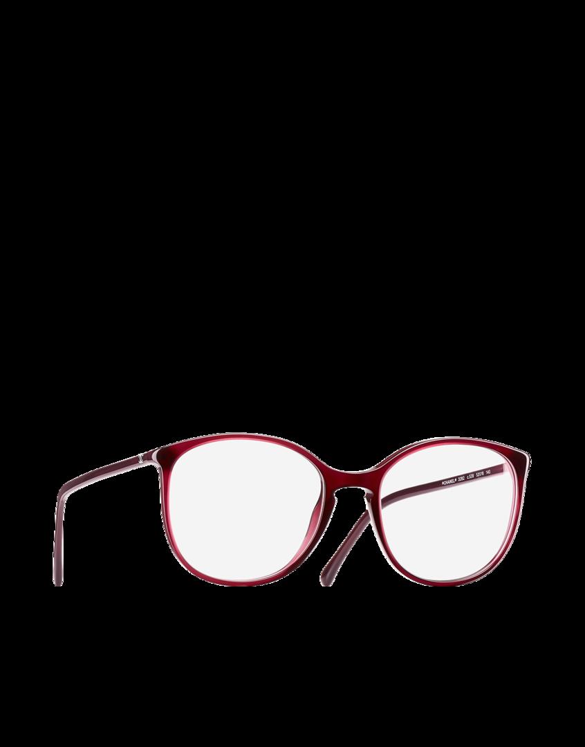 Óculos de grau redondo, acetato-vermelho - CHANEL   Chanel Bijoux 0ca3d8b2c8