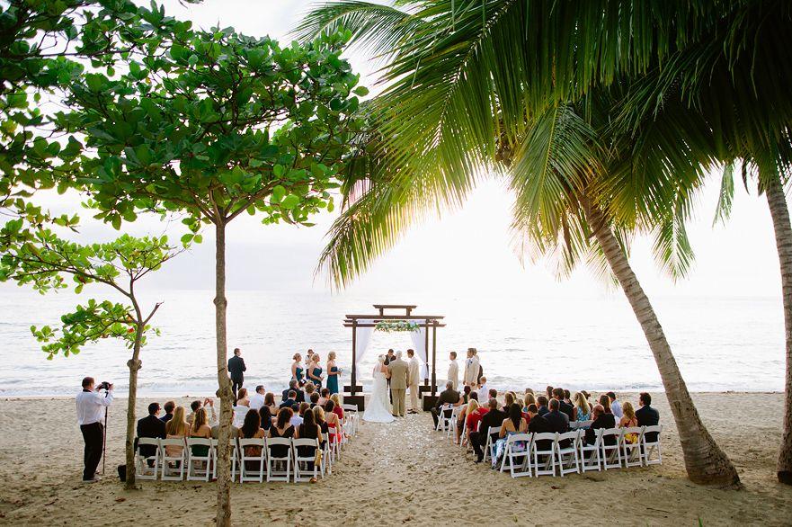 Ceremony On The Wedding At Rincon Ocean Villa Puerto Rico Usa