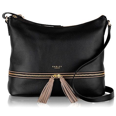 71eb9f676abc Buy Radley Pickering Large Leather Acriss Body Bag, Black Online at  johnlewis.com