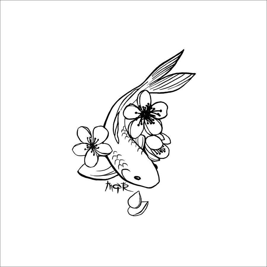 Single Koi:. by Cenestelle | fish | Pinterest | Tattoo ideen ...