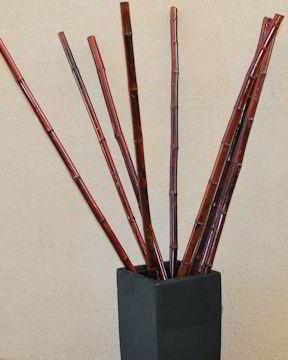Thick Decorative Bamboo Mahogany Color Bamboo Mahogany Color Bamboo Decor Bamboo Sticks Decor