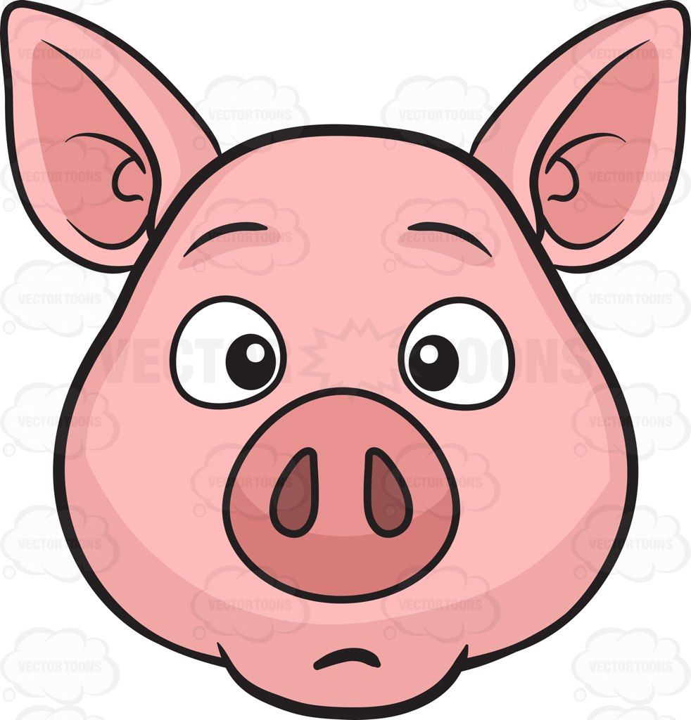 a dumbfounded pig vector illustrations pinterest cartoon clip