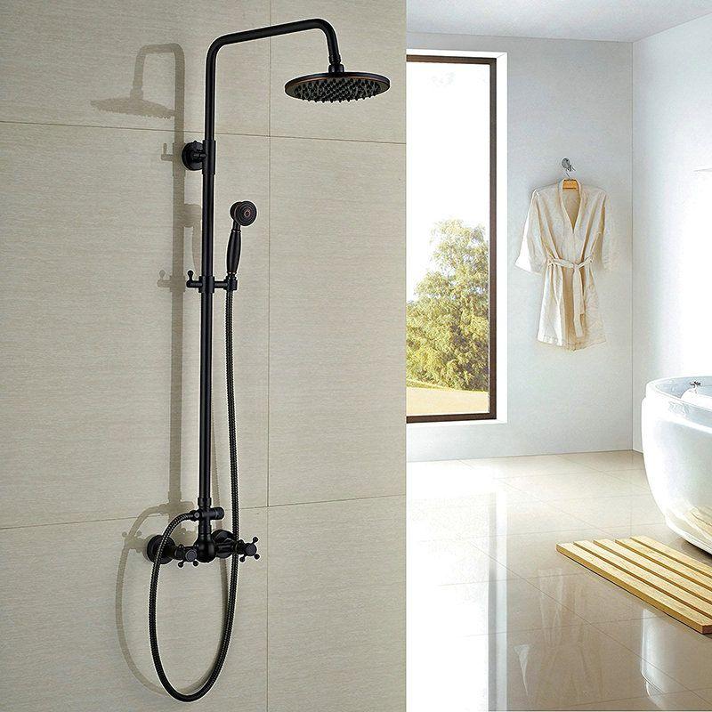 Matte Black Shower Fixture Antique Black Bronze Bathroom Wall
