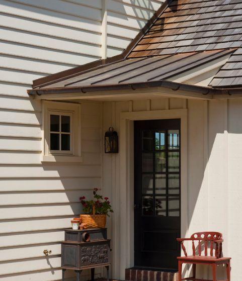 Tin Roof Over Door Porch Design House Exterior Outdoor Remodel