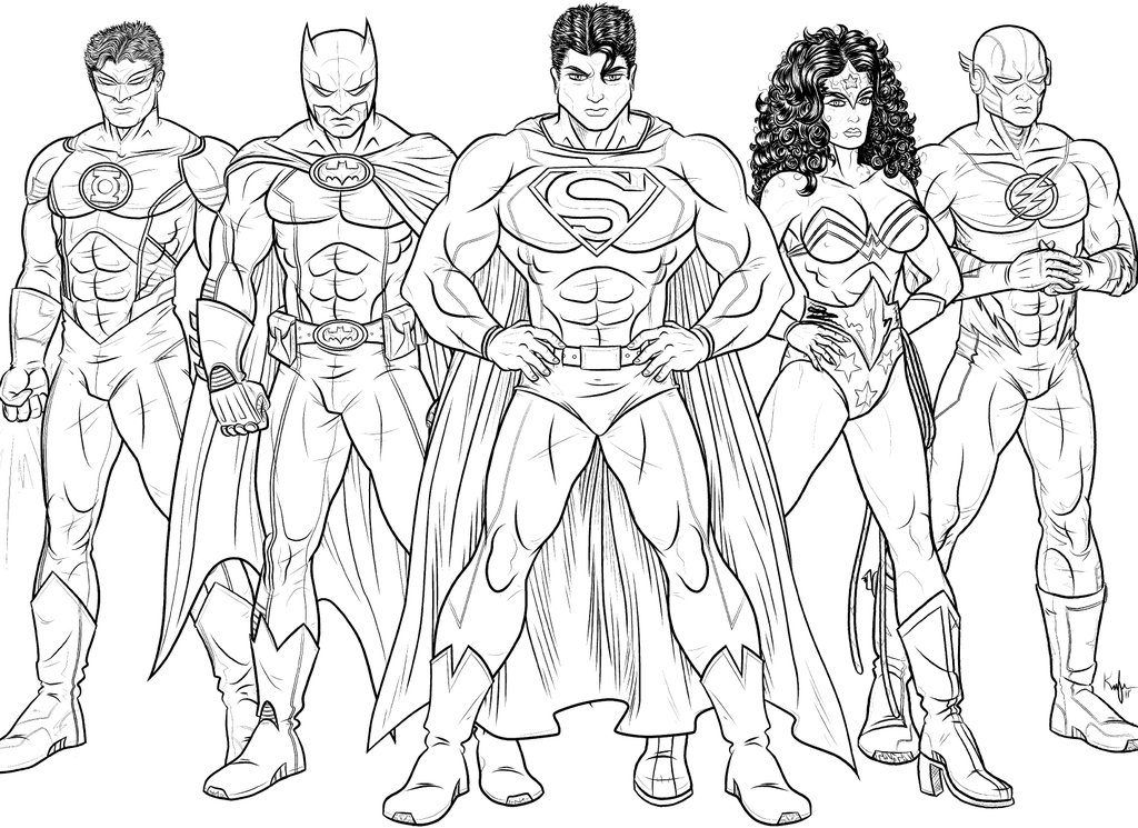 Justice League Coloring Pages Kids Superhero Coloring Pages
