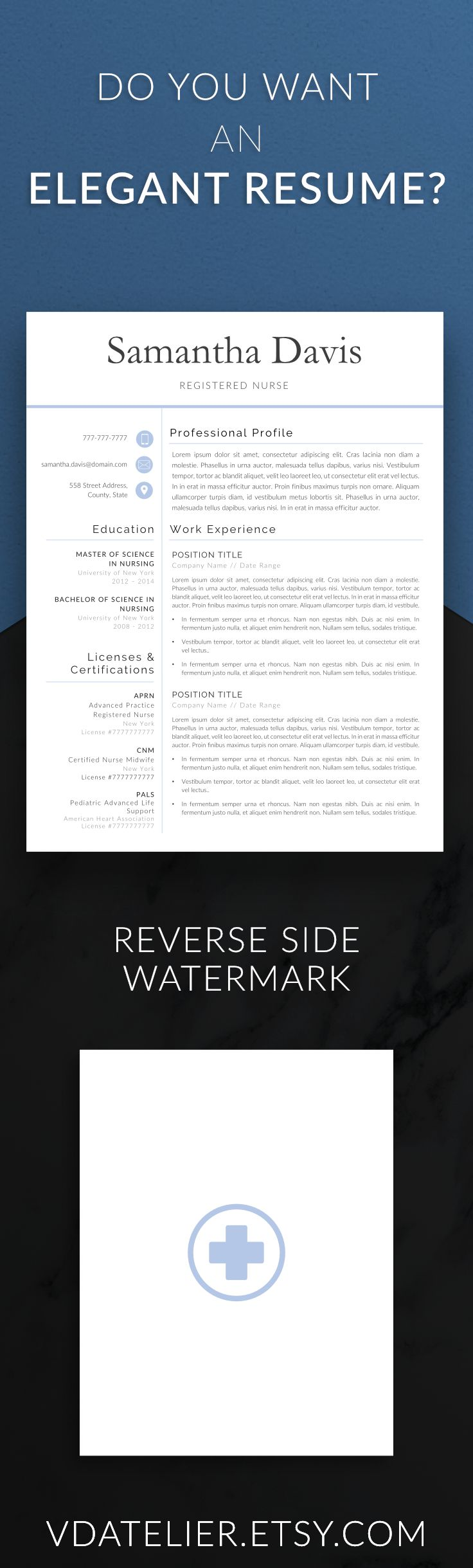 This nurse resume template will enable you to create your