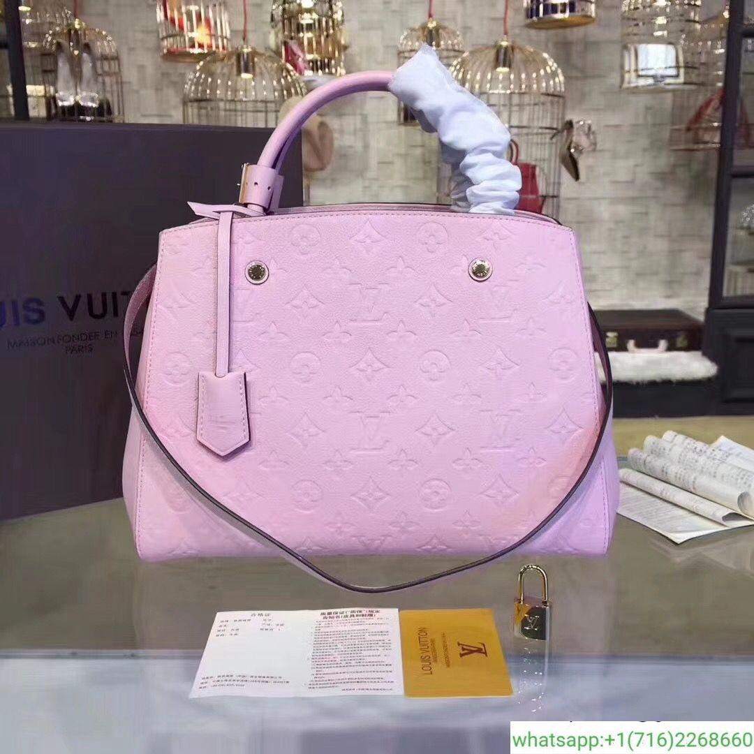 b199e2592cb1 Louis Vuitton M41048 Montaigne MM Tote Bag Monogram Empreinte Leather  380