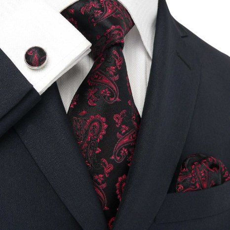 4b6f65aac46a Black   red paisley tie