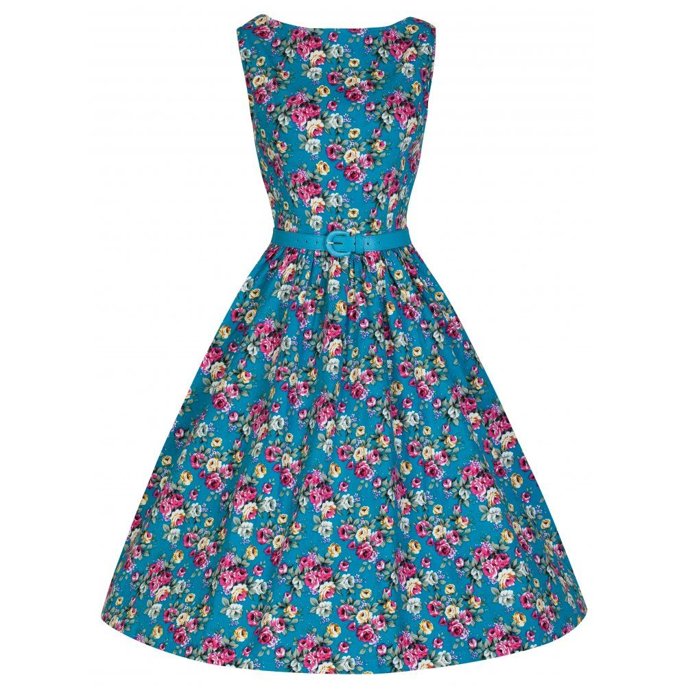 b515c1263ae79 Audrey' Turquoise Swing Dress | Fashion and tattoos | Vintage style ...