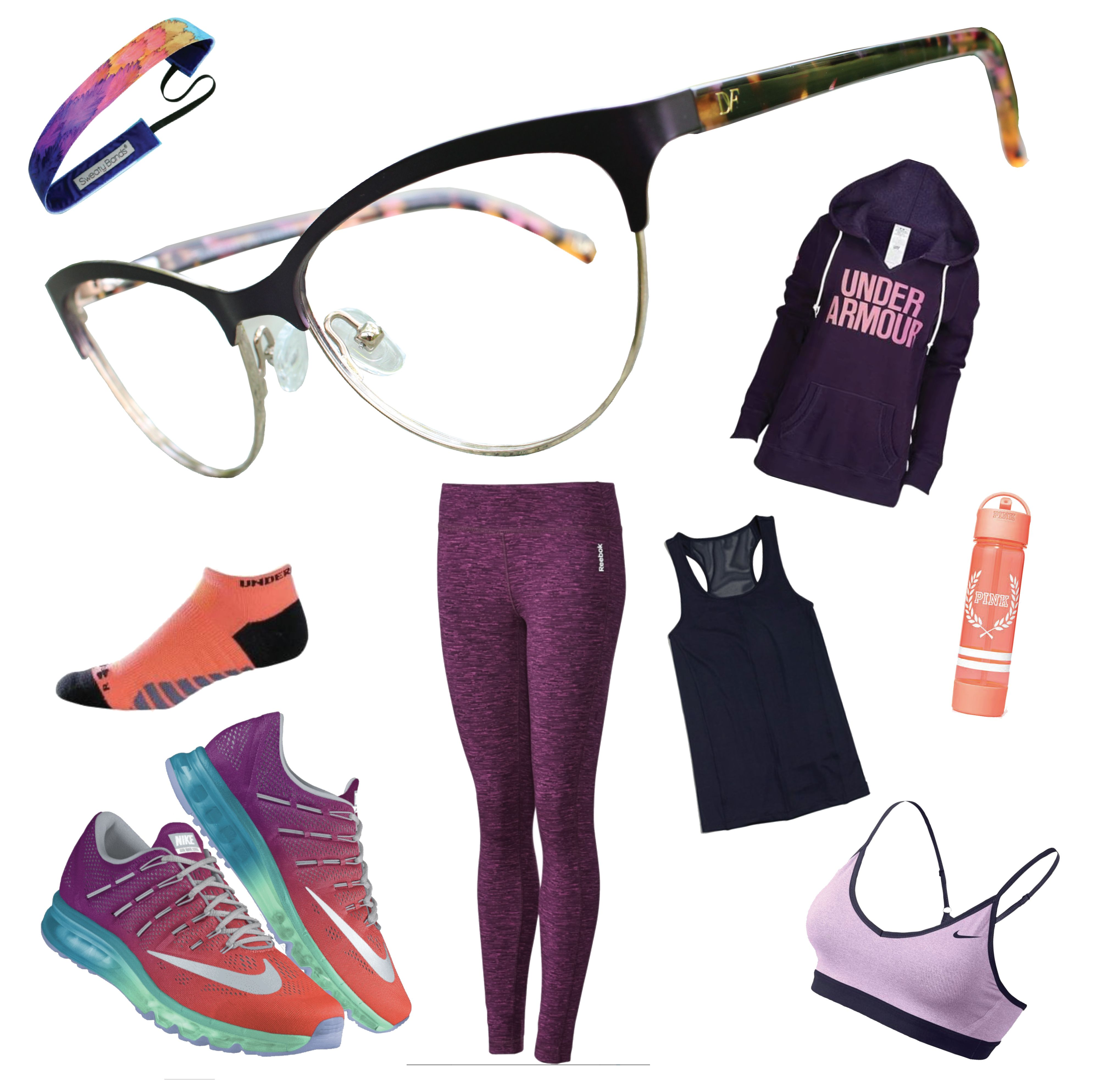 Head to the gym in style! These DVF frames are the perfect pair with ...