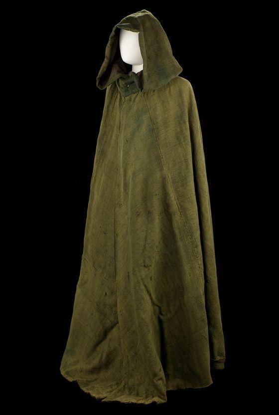 Boat Cloak Green Wool C1800 Costume Jewels