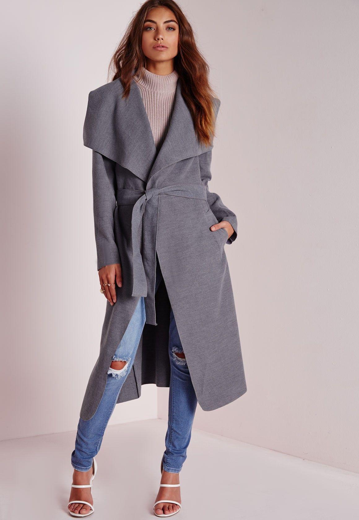 Soft Zip Detail Waterfall Jacket