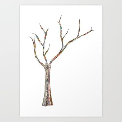 naked tree Art Print by Bianca Green - $18.00